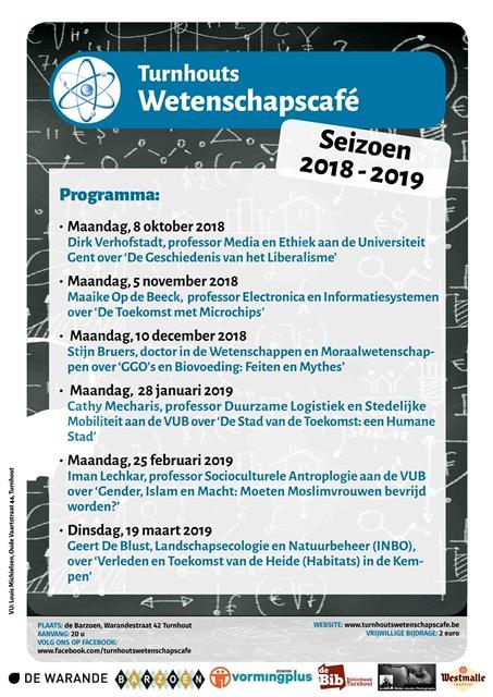 Programma Turnhouts Wetenschapscafé